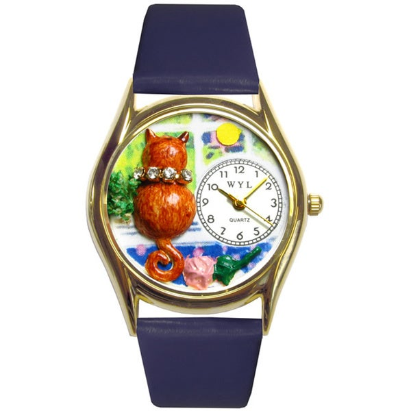Aristo Cat Royal Blue Leather Watch