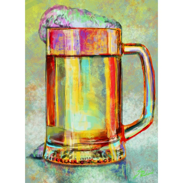 Oliver Gal 'Beer Mug' Limited Edition Modern Canvas Art