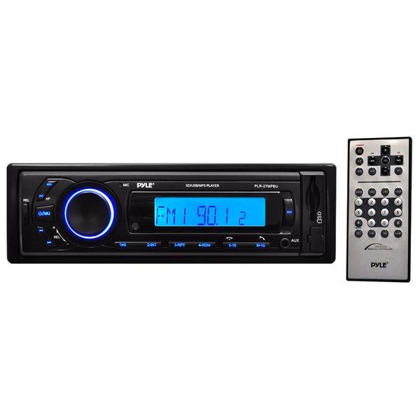 Pyle PLR27MPBU AM/FM Radio with SD/USB/MP3 Playback, 3.5mm Aux-In, Bluetooth Wireless Streaming