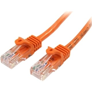 StarTech.com 75 ft Cat5e Orange Snagless RJ45 UTP Cat 5e Patch Cable