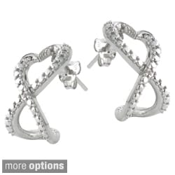 DB Designs Sterling Silver Diamond Accent Heart Infinity Earrings