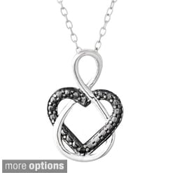 DB Designs Sterling Silver Diamond Accent Heart Infinity Necklace