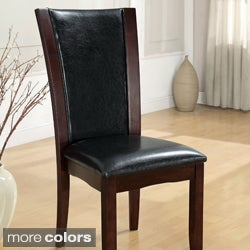 Furniture of America Mario Leatherette Dining Chairs (Set of 2)