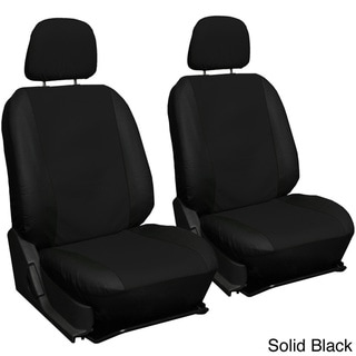 Oxgord Two-tone Faux Leather Low Back Bucket Seat Covers