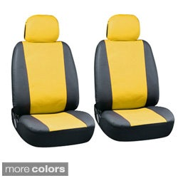 Two-tone Faux Leather Low Back Bucket Seat Covers