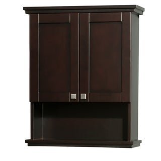 Wyndham Collection Acclaim Espresso 25-inch Espresso Wall Cabinet