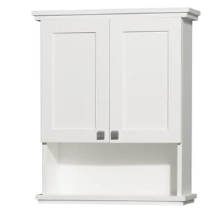 Acclaim White 25-Inch White Wall Cabinet