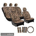 17-Piece Zebra Seat Covers Set