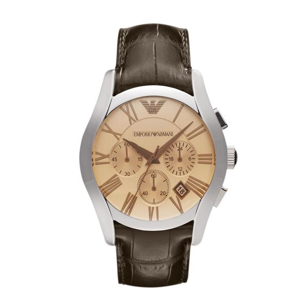 Emporio Armani Men's Brown Classic Amber Chronograph Watch