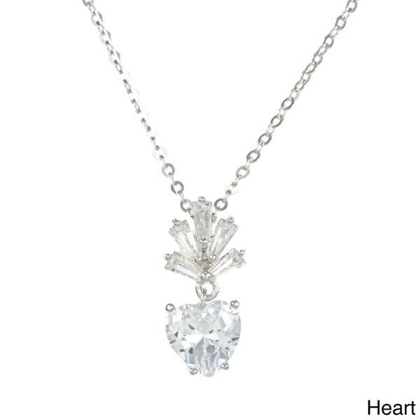 La Preciosa Sterling Silver Cubic Zirconia Necklace