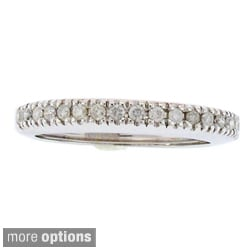 Beverly Hills Charm Silver 1/3ct TDW Diamond Stackable Band (H-I, I2-I3)