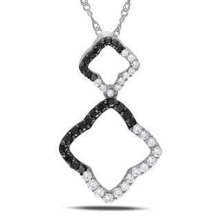 Miadora 14k Gold 1/2ct TDW Black and White Diamond Necklace (G-H, I1-I2)