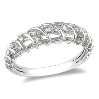 Miadora 14k White Gold 1/6ct TDW Diamond Ring (G-H, I1-I2)