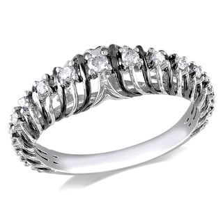 Miadora 14k Black and White Gold 1/4ct TDW Diamond Ring (G-H, I1-I2)