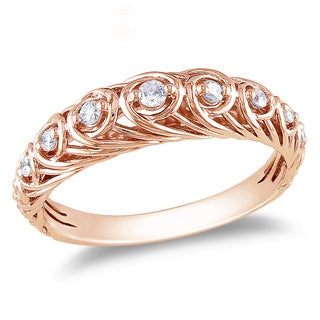 Miadora 14k Rose Gold 1/5ct TDW Diamond Ring (G-H, I1-I2)