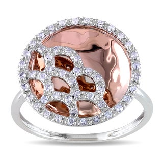 Miadora 14k Rose Gold 1/4ct TDW Diamond Ring (G-H, I2-I3)