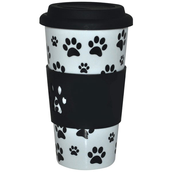KitchenWorthy Ceramic Paw Print Tumbler