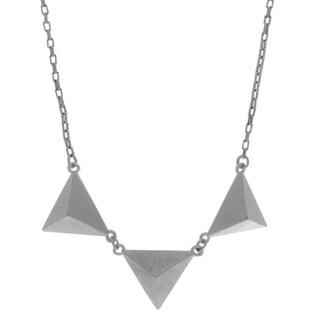 NEXTE Jewelry Silvertone Three Pyramids Necklace