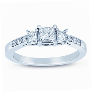 Classic 14k White Gold 3/4ct TDW Diamond Engagement Ring (H-I, I1-I2)
