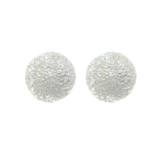 Sunstone Sterling Silver Laser Ball 6-mm Stud Earrings