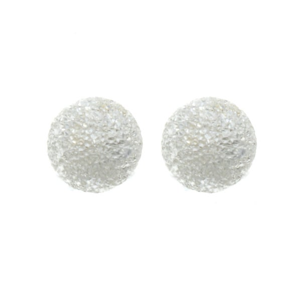 Sunstone Sterling Silver Laser Ball 6-mm Stud Earrings