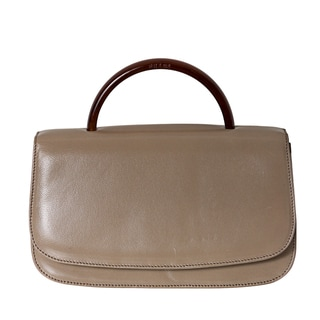 Prada 'Madras' Beige Leather Top Handle Bag