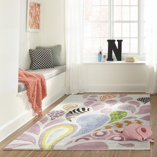 Momeni Lil' Mo Hipster Funky Blue Area Rug (4'0 x 6'0)