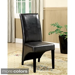 Furniture of America Uptown Contemporary Leatherette Side Chairs (Set of 2)