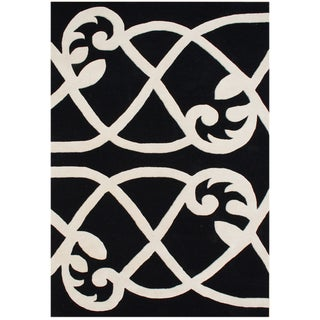 Handmade Alliyah Black Blended Wool Area Rug (9 x 12)