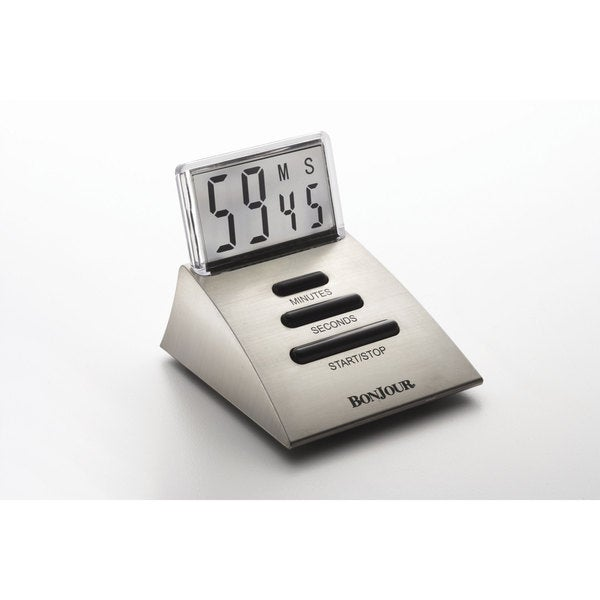 BonJour Chrome Timer with Clear LCD Screen