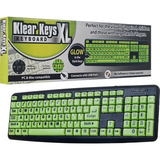 Klear Keys XL Glow-in-Dark/ Spill-Resistant Keyboard