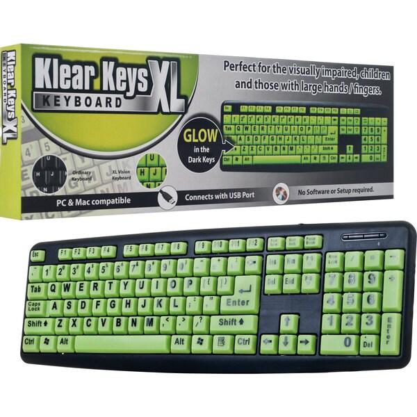 Klear Keys XL Glow-in-Dark/ Spill-Resistant Keyboard
