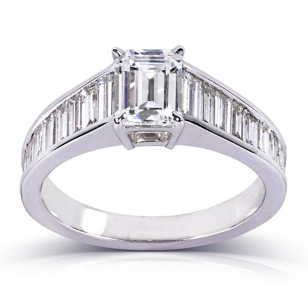 Annello 14k White Gold 2 1/5ct TDW Certified Diamond Ring (F, SI1)