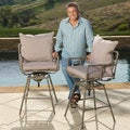 Christopher Knight Home Northrup Pipe Outdoor Adjustable Barstools (Set of 2)