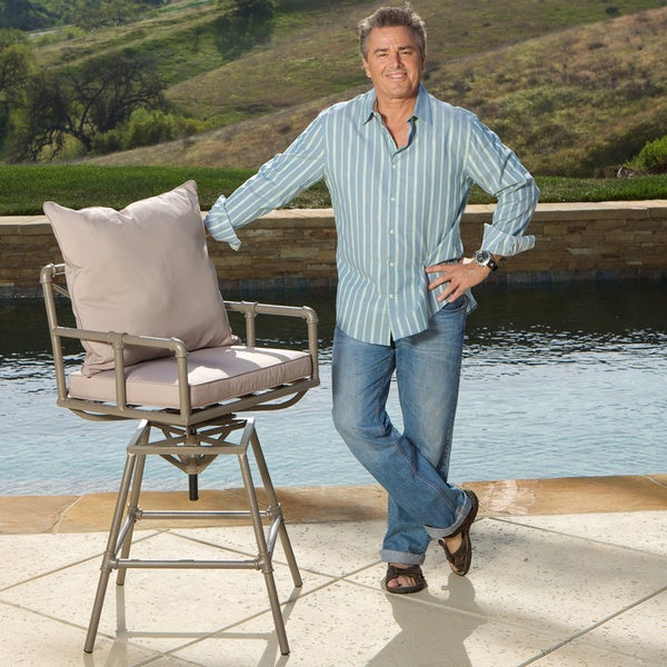 Northrup Pipe Outdoor Adjustable Barstool