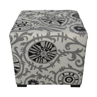 Sole Designs Modern Four-Button Tufted Ottoman