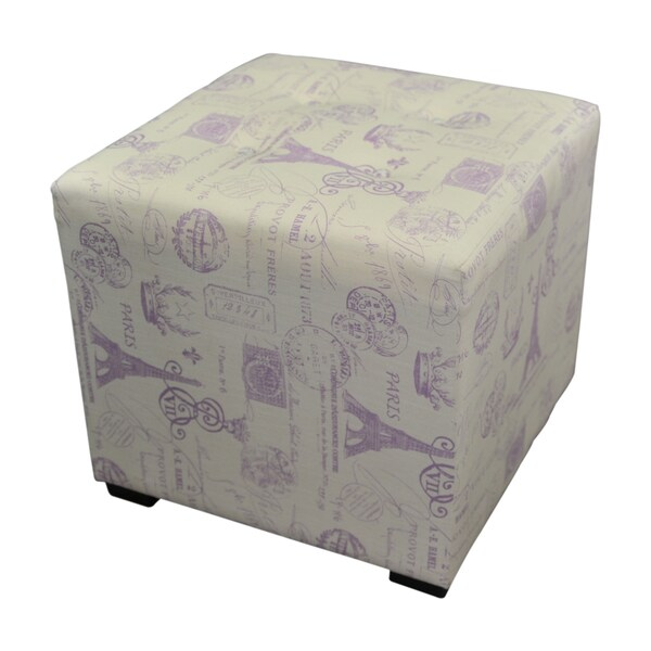 Sole Designs Grape 4-button Tufted Ottoman