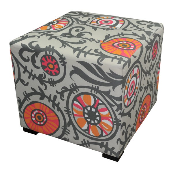 Sole Designs Four-button Tufted Ottoman