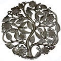Handmade Tree of Life with Flowers Wall Art 24-inch Wall Art (Haiti)