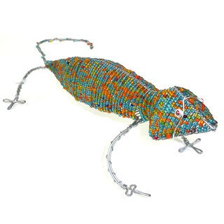 Handmade Gecko in Wire and Beads (South Africa)