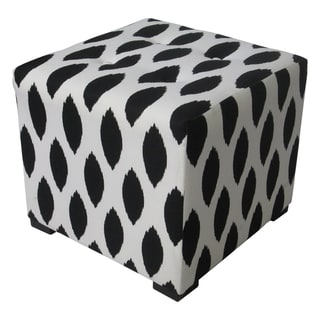 Sole Designs Black/ White Tufted Ottoman