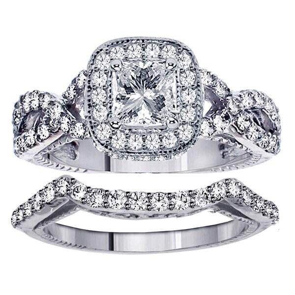 14k Gold 2 2/5ct TDW Diamond Braided Bridal Ring Set (F-G, SI1-SI2)