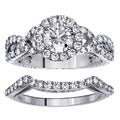 14k Gold 2 1/6ct TDW Diamond Braided Bridal Ring Set (F-G, SI1-SI2)