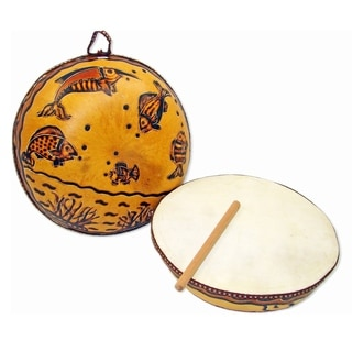 Handmade Ocean Gourd Drum (Peru)