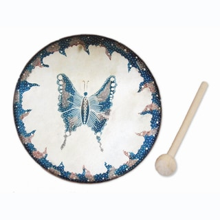 Handmade Butterfly Frame Drum (Indonesia)