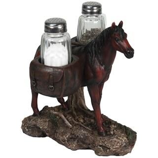 River's Edge Horse Holding Salt and Pepper Shaker Set