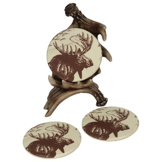 River's Edge Moose Antler Coaster Set
