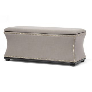 Baxton Studio Liverpool Linen Modern Storage Ottoman and Bench