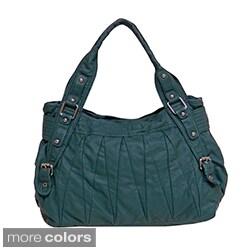 Bueno 'Playa Mia' Solid Embroidered Shoulder Bag