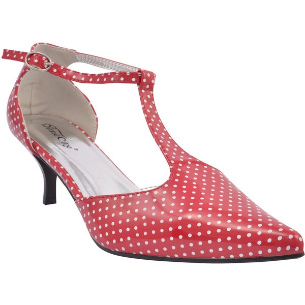 DimeCity Women's 'Retro Vivian' Polka-dot Pointed Toe Heels